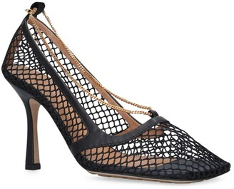 Bottega Veneta Fishnet Chain Pumps 90