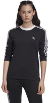 adidas Originals 3-Stripes T-Shirt in Cotton Mix with Long Sleeves