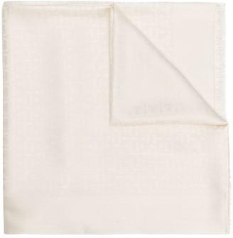 Salvatore Ferragamo jacquard Gancini shawl
