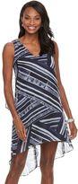 Dana Buchman Women's Abstract Chiffon High-Low Dress