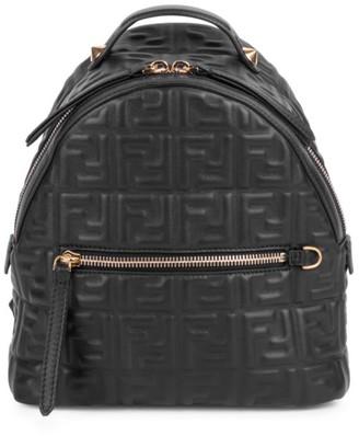 Fendi Mini FF Leather Backpack