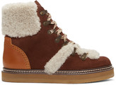 See by Chloe Brown Lace-Up Ski Boots