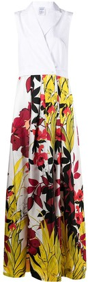 Sara Roka Floral-Print Wrap Maxi Dress