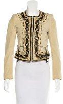 Roberto Cavalli Suede Embellished Jacket