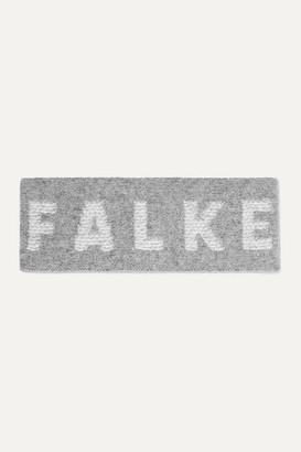 FALKE ERGONOMIC SPORT SYSTEM Wool-blend Jacquard Headband - Gray