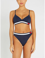 Tommy Hilfiger Stripe-trim stretch-jersey triangle bra