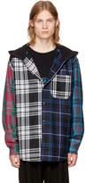 Alexander Wang Multicolor Patchwork Hooded Overshirt