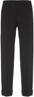 Prada Stretch technical fabric trousers