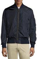 Moncler Timothe Zip-Up Nylon Bomber Jacket, Navy