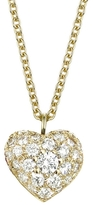 Finn Pave Diamond Puffed Heart Pendant - Yellow Gold