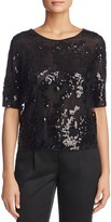 St. Emile Marcia Floral Sequined Top