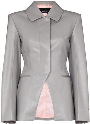 ANOUKI Faux Leather Blazer