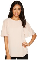Calvin Klein Tunic Top with Flutter Sleeve Women's Clothing