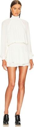 Krisa Smocked Turtleneck Dress