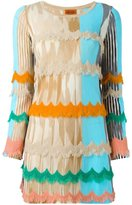 Missoni scalloped fringe knitted dress