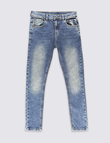 Marks and Spencer Cotton Slim Fit Denim Jeans with Stretch (3-14 Years)