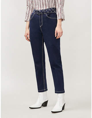 Claudie Pierlot Pistou straight high-rise jeans