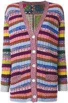 Gucci Tiger Card print reversible cardigan - women - Silk/Polyamide/Wool/Metallic Fibre - S