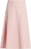 Marni Wool-crepe knee-length skirt
