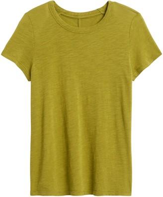 Banana Republic Petite Slub Cotton-Modal Crew-Neck T-Shirt