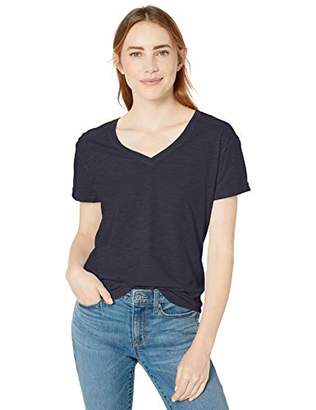 Goodthreads Vintage Cotton Roll-Sleeve V-Neck T-ShirtS