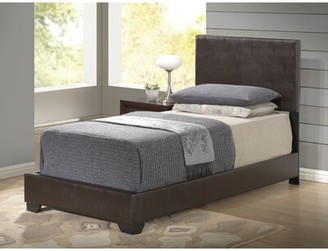 Ebern Designs Everetts Upholstered Platform Bed Size: King, Color: Brown