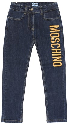 MOSCHINO BAMBINO Embroidered straight jeans