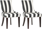 Safavieh Charcoal Lester Chairs, Pair