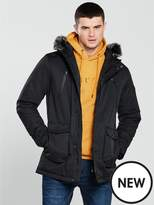 V By Very FAUX FUR HOODED PARKA