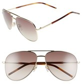 Marc Jacobs Women's 59Mm Aviator Sunglasses - Gold