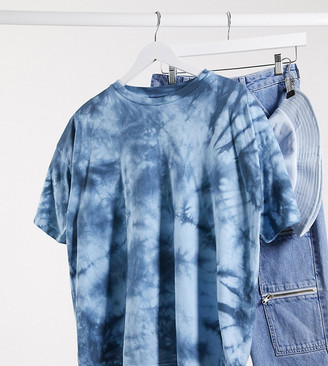 Asos DESIGN Maternity oversized t-shirt in tonal tie dye