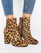 Miss Selfridge Leopard Print Boot