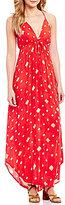 Billabong Don't Mind V-Neck Sleeveless Printed Maxi Dress