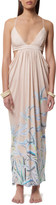 Mara Hoffman Cut Out Side Draped Maxi Dress