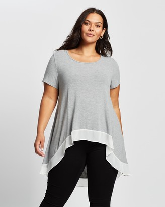 Atmos & Here Katherine High-Low Jersey Top
