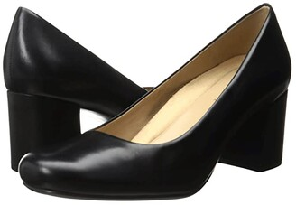 Naturalizer Whitney (Black Leather) High Heels