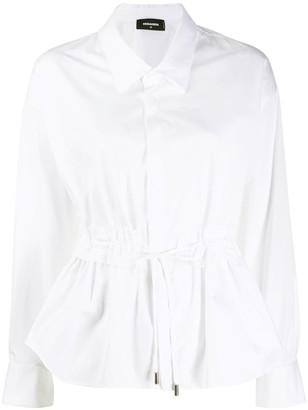 DSQUARED2 drawstring waist shirt