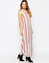 B.young Striped Maxi Dress