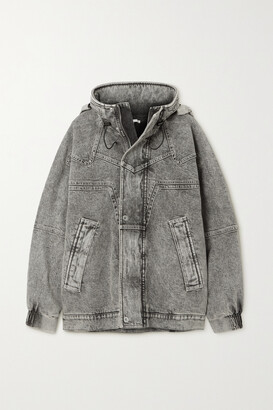 Stella McCartney - + Net Sustain Galaxy Hooded Organic Denim Jacket - Gray