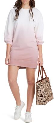 Madewell Dip Dye Sweatshirt Minidress
