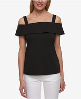 Tommy Hilfiger Off-The-Shoulder Flounce Top, Only at Macy's