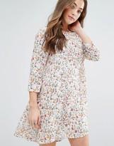 Vero Moda Elena Floral Print Babydoll Dress