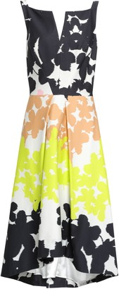Milly Asymmetric Pleated Floral-print Cotton-blend Dress