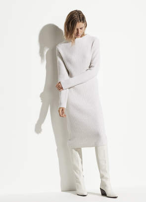 Vince Wool Cashmere Ribbed Dress