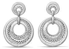 David Yurman Stax Drop Earrings with Diamonds