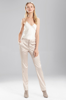 Josie Natori Stretch Embossed Crocodile Ankle Pant