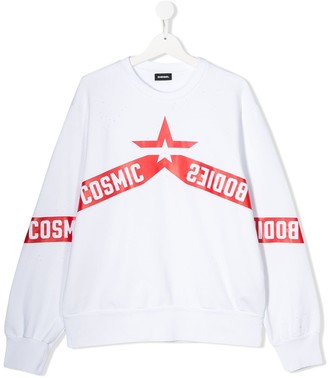 Diesel TEEN cosmic star print sweatshirt
