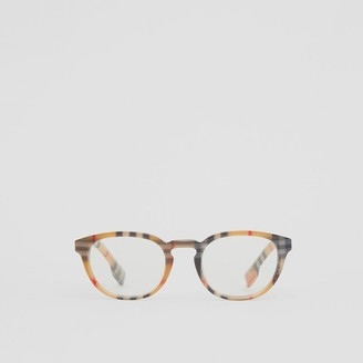 Burberry Vintage Check Round Optical Frames