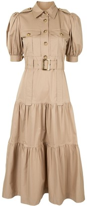 Derek Lam 10 Crosby Safari-Style Tiered Midi-Dress