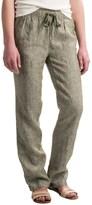 Kenar Linen Chambray Pants - Elastic Waist, Straight Leg (For Women)